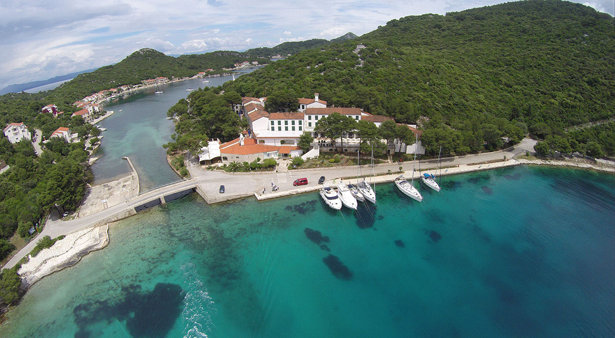 Hrvatska, otok Lastovo, Ubli, Hotel Solitudo