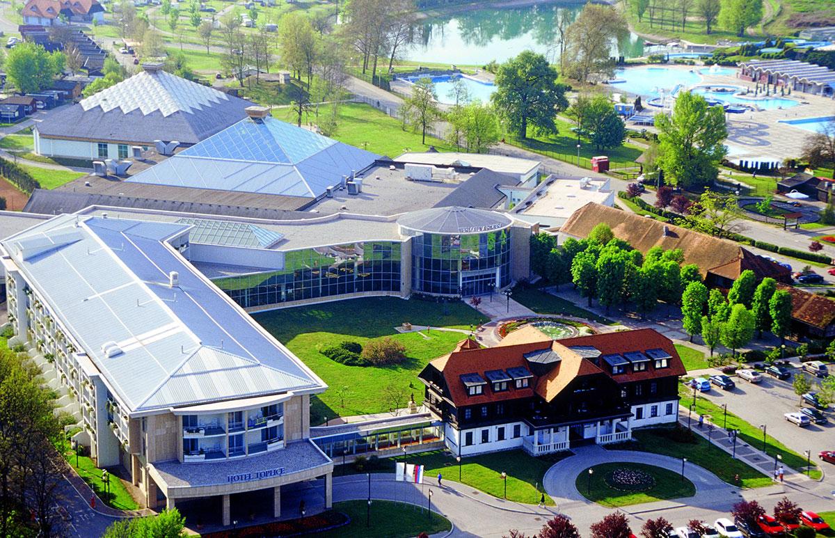 Slovenija, Terme Čatež, Hotel i depandansa Toplice