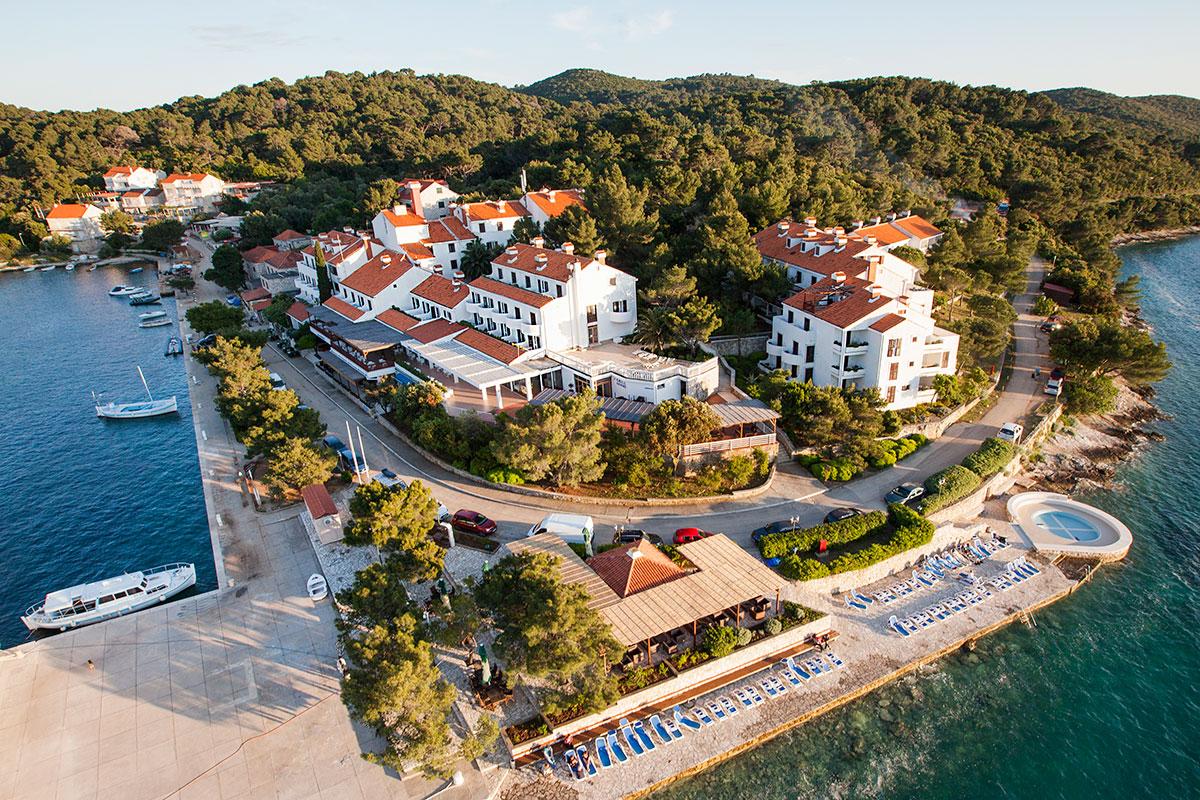 Hrvatska, Otok Mljet, Pomena, Hotel Odisej