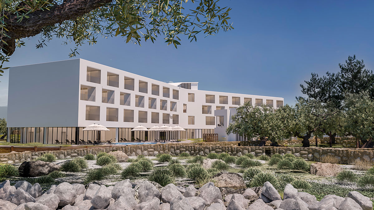 Hrvatska, Otok Pag, Novalja, Hotel Olea