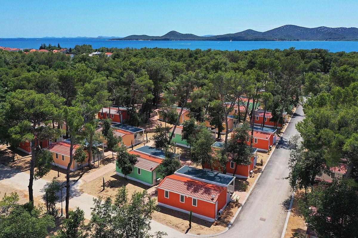 Hrvatska, Biograd, Mobilne kućice Soline
