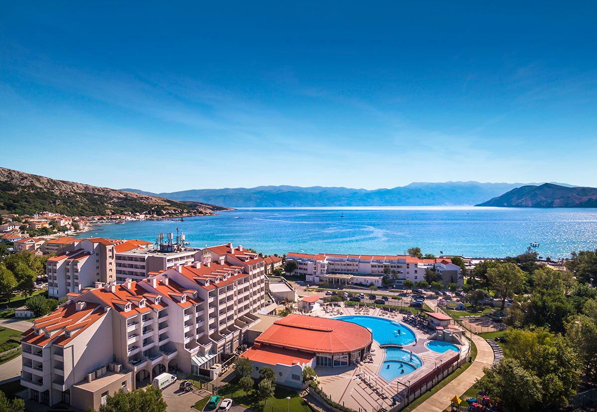 Hrvatska, otok Krk, Baška, Corinthia Baška Sunny hotel by Valamar